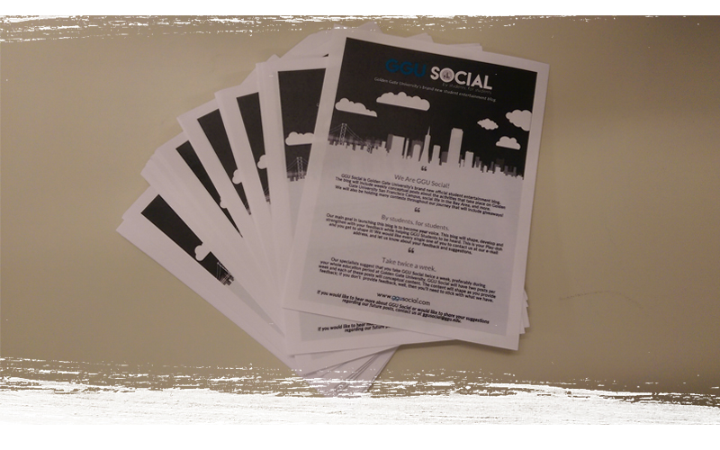 GGU Social handout