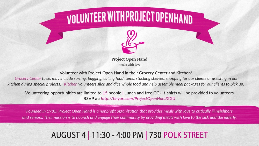 Project Open Hand Volunteering Event August DS