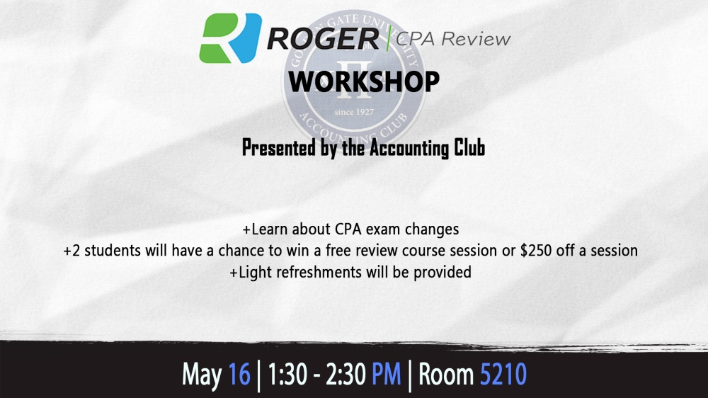 Roger CPA Review Workshop