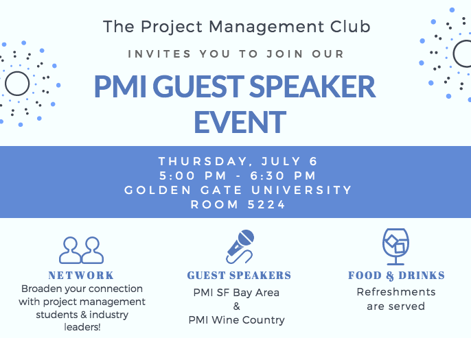 PMI Guest Speaker Event Flyer